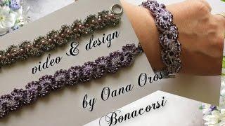crochet bracelet with beads