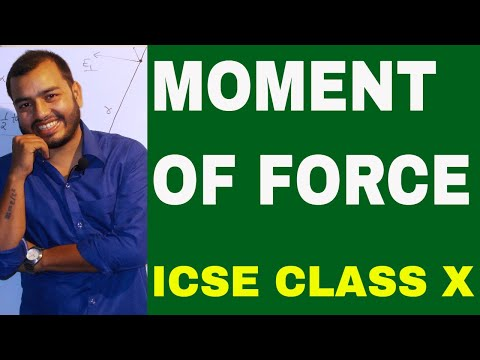 MOMENT OF FORCE  : ICSE PHYSICS 10th : Turning Effect Of Force: TORQUE : FORCE 04