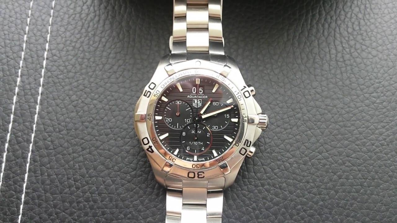 a358b855440 TAG Heuer Aquaracer 300M Chronograph quartz CAF101E - YouTube