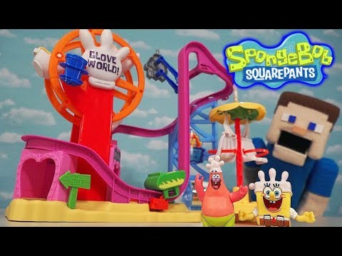 Spongebob Squarepants Imaginext Gloveworld Playset Amusement Theme Park Unboxing Fisher Price