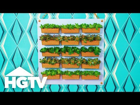 DIY Dollar Store Vertical Garden - Way to Grow - HGTV