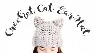 Crochet Cat Ear Hat // Step by Step Crochet Tutorial // Veronica Marie