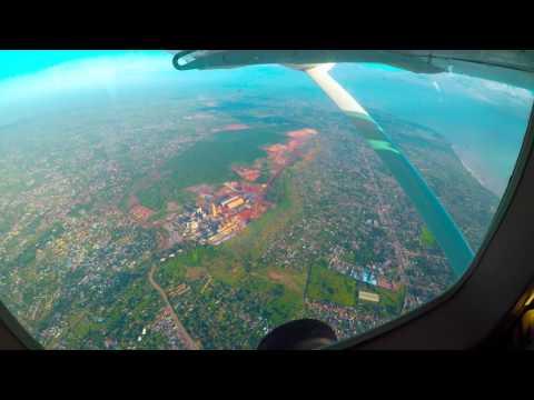 Flying from Dar Es Salaam to Zanzibar (Tanzania, Africa)