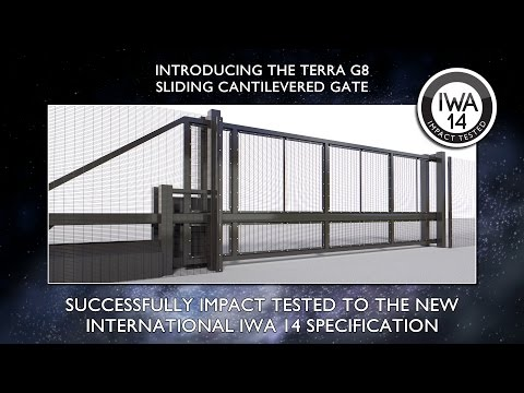 Frontier Pitts Terra G8 Sliding Cantilevered Gate Crash Test