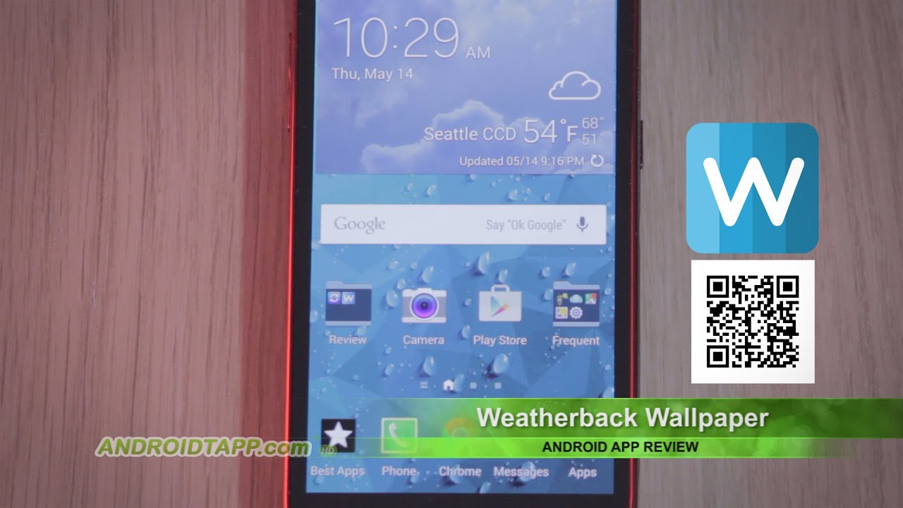 weatherback wallpaper android app review