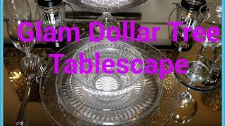 **MUST SEE**How to  Decorate a Glam Dollar Tree Tablescape