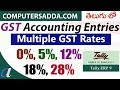 Multiple GST Rates Accounting Entries in Tally - 03 (Telugu) ( Purchase, Sales - computersadda.com)