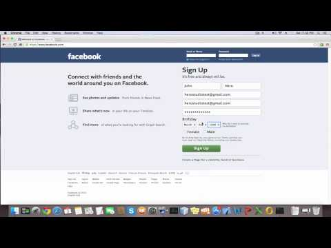 How to create a Facebook account | How to make a Facebook account | Sign Up
