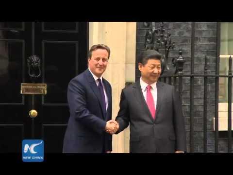 David Cameron welcomes Xi Jinping at 10 Downing Street