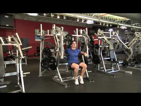 Hammer Strength Plate-Loaded Bench Press Instructions - YouTube