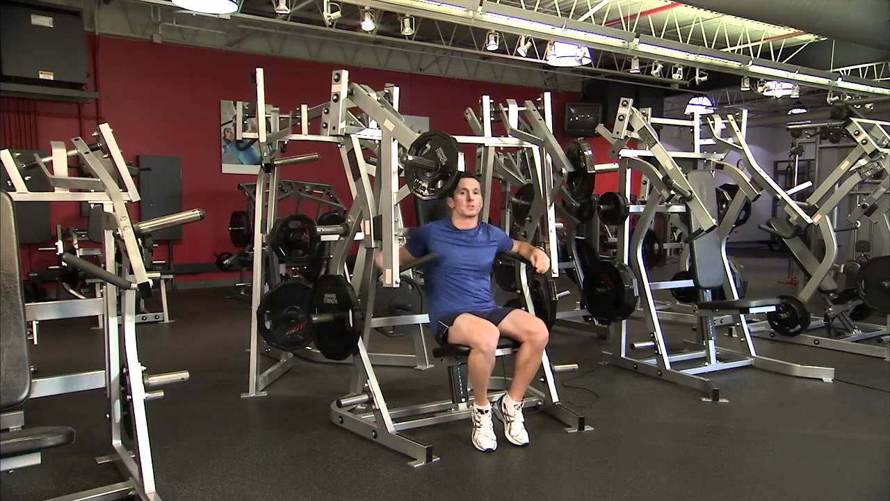 Hammer Strength Bench Presses Part - 18: Hammer Strength Plate-Loaded Bench Press Instructions