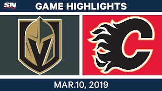 NHL Highlights | Golden Knights vs. Flames – Mar 10, 2019