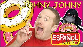 JOHNY JOHNY SÍ PAPÁ para niños con Steve and Maggie Español Latino | Canciones Infantiles