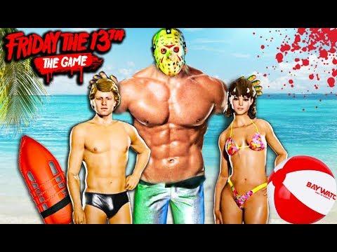 BAYWATCH LOS VIGILANTES DE LA PLAYA XD - FRIDAY THE 13th THE GAME ( Viernes 13 Nuevo DLC)