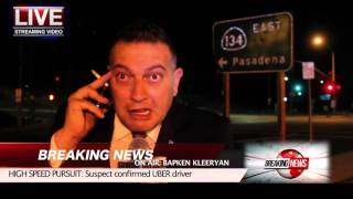 BREAKING NEWS!!!HIGH SPEED CHASE w/Armenian driver and he's related to the reporter!!!