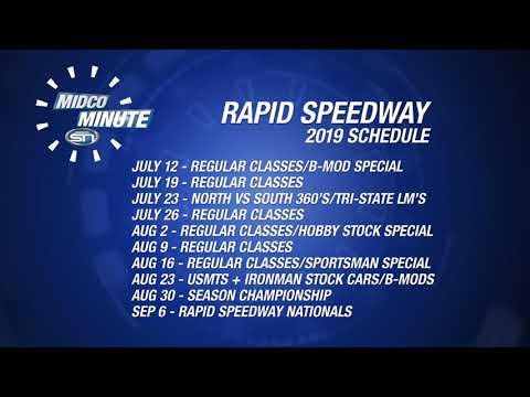 Midco Minute 512: Rapid Speedway Schedule Release
