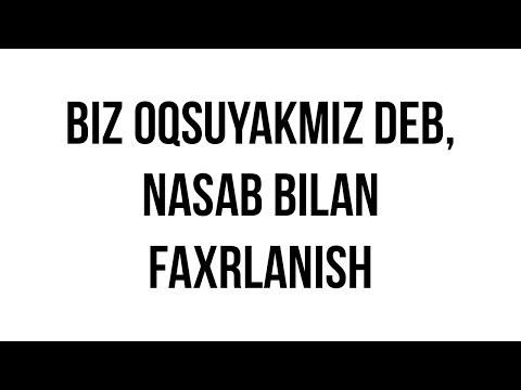 """Savol-javob: """"Biz oqsuyakmiz deb, nasab bilan faxrlanish"""" (Shayx Sodiq Samarqandiy)"""