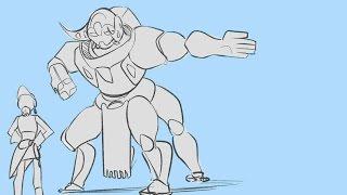 Orisa finds love [ Overwatch Comic]