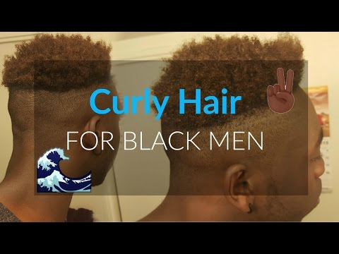 Curly Hair Routine For Black Men