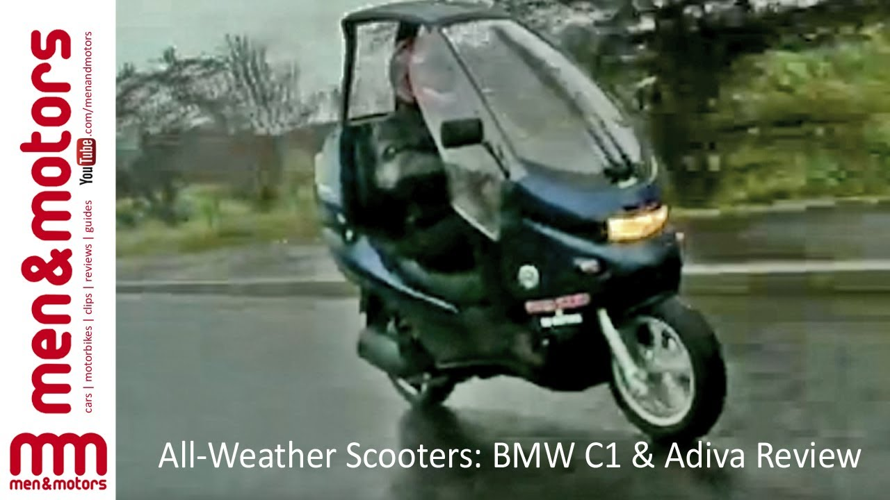 All Weather Scooters Bmw C1 Amp Adiva Review Youtube