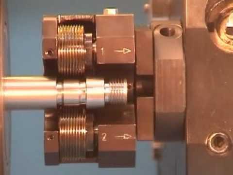LMT Fette Tangential Thread Rolling Head on a CNC-Lathe_LMT USA