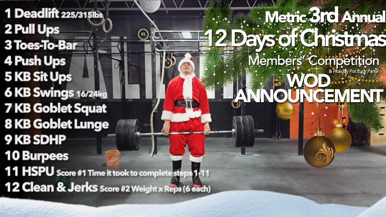 12 Days Of Christmas Crossfit Wod.Metric 12 Days Of Christmas Wod Announcement