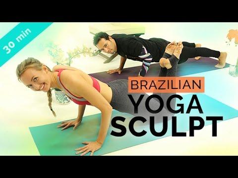 Brazilian Full Body Yoga Sculpt Workout | Capoeira & Yoga Fusion Sequence with Brett Hoebel (20-min)