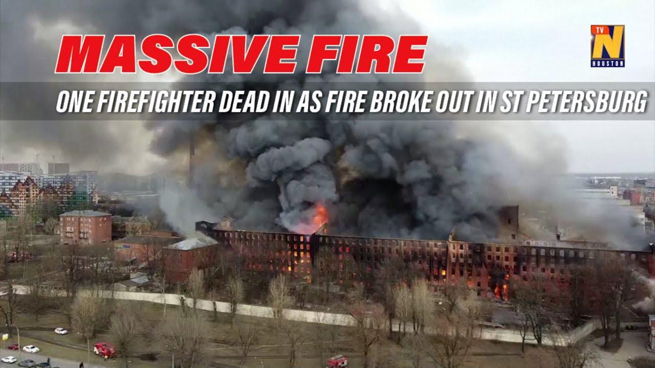 Fire rages inside St Petersburg historic building