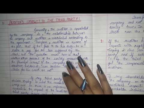 AUDITING-CHAPTER- 12(PART- 76)  AUDITOR'S  LIABILITY  TO THE THIRD  PARTY