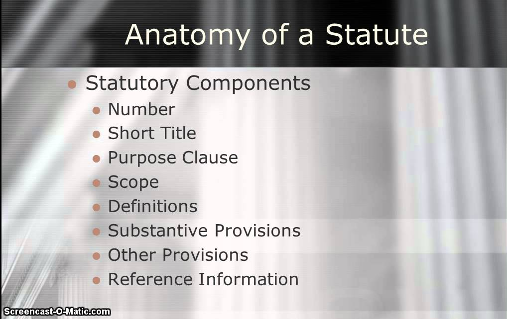Video 2 - Anatomy of a Statute - Chapter 3 - Cognitive Skills - YouTube