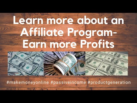 Learn more about an Affiliate Program-Earn more Profits (Make Money Online) thumbnail