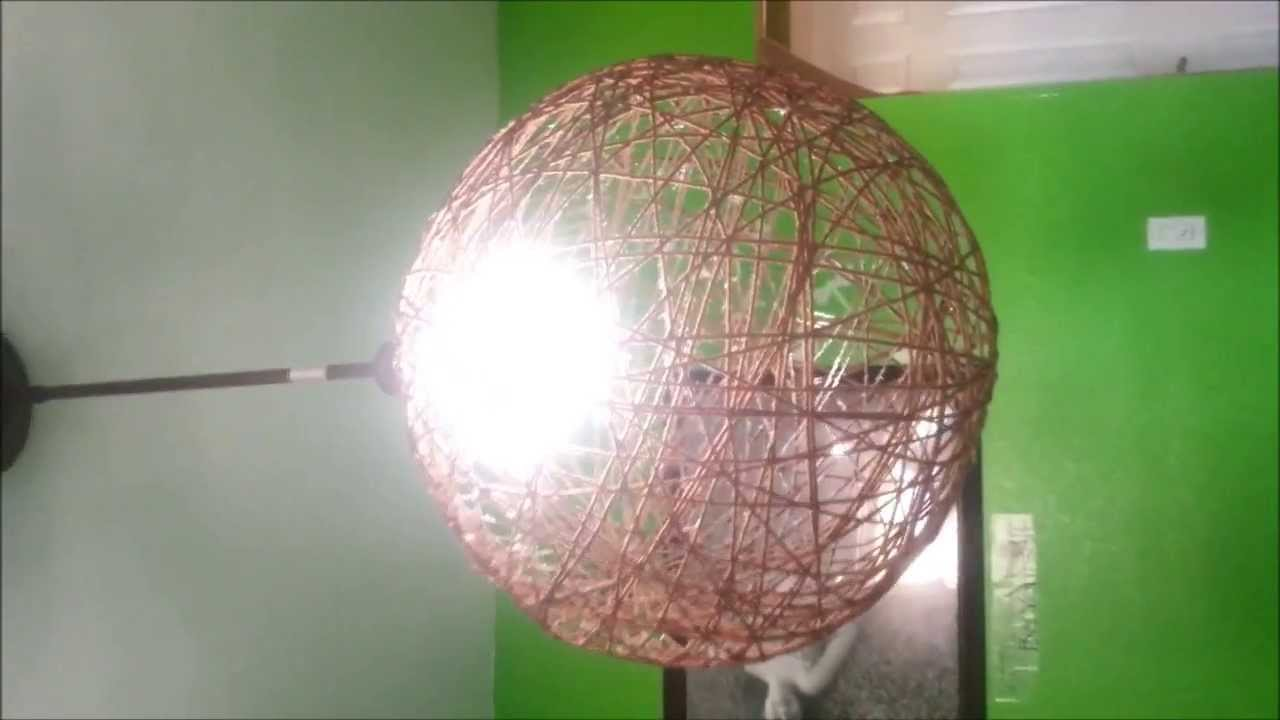 como hacer pantallas para lamparas de techo