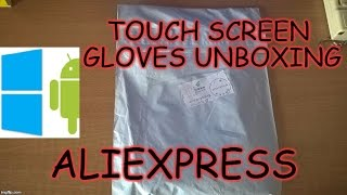 295) Smart winter gloves for capacitive screen smartphones unboxing(aliexpress)