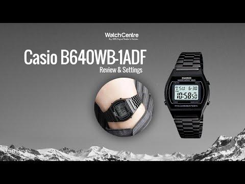 B640WB-1ADF Casio Vintage Black ION Plated Digital Wrist Watch Review & Settings