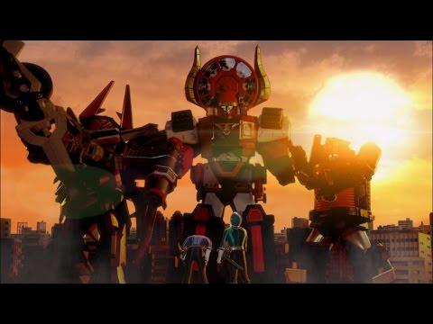 Power Rangers Super Samurai - A Sticky Situation - Megazord Fight
