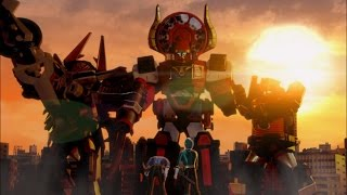 Video Power Rangers Super Samurai - A Sticky Situation - Megazord Fight download MP3, 3GP, MP4, WEBM, AVI, FLV Maret 2017