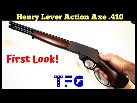 First Look! Henry Lever Action Axe .410 (NEW 2020) - TheFirearmGuy
