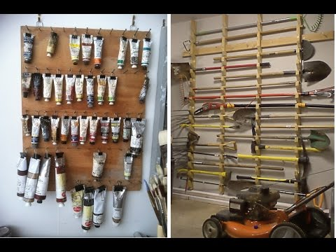 Идеи для  хранения в гараже Обустройство гаража внутри