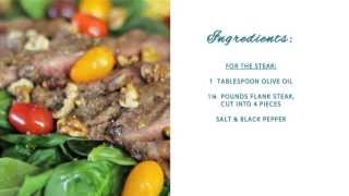 Flank Steak And Balsalmic Spinach Salad