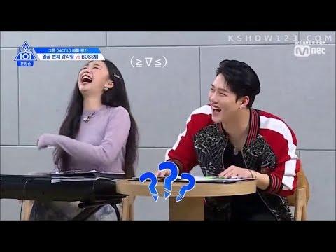 Produce X 101 (MONSTA X Jooheon) Trainer CUT ENG SUB (EP 4) 😂😂