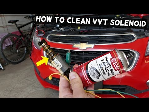 HOW TO CLEAN VVT SOLENOID ON CHEVROLET CRUZE SONIC MALIBU EQUINOX TRAVERSE EQUINOX  CHEVY VVT CLEAN