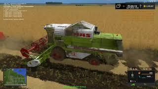 Farming Simulator 2017 Wielkie żniwa na 6 kombajny.