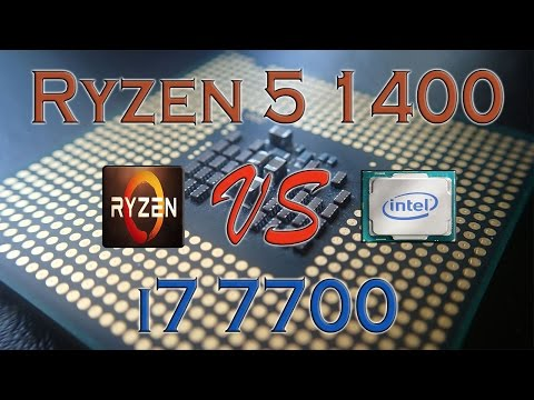 RYZEN 5 1400 vs i7 7700 - BENCHMARKS / GAMING TESTS REVIEW AND COMPARISON / Ryzen vs Kaby Lake