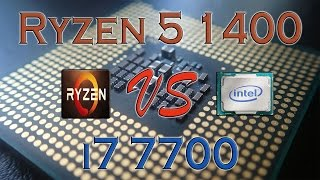 ryzen 5 1400 vs i7 7700 benchmarks gaming tests review and comparison ryzen vs kaby lake
