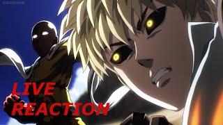 LIVE REACTION: One Punch Man Anime Episode 5: SAITAMA VS GENOS = BEST FIGHT