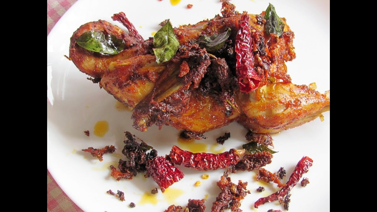 Whole chicken roast kerala style home.