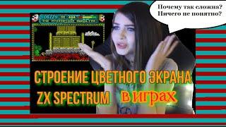 Строение цветного экрана в играх ZX Spectrum