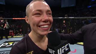 "UFC 261: Rose Namajunas Octagon Interview | ""I Did It Again!"""