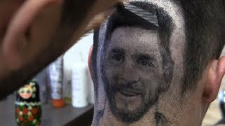 Serbian hairdresser 'draws' Messi, Ronaldo