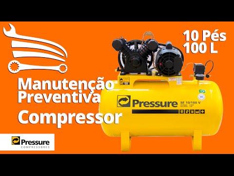 d56b8c469 Manutenção Preventiva Compressor de Ar 10 Pés 100 Litros PRESSURE - Loja do  Mecânico